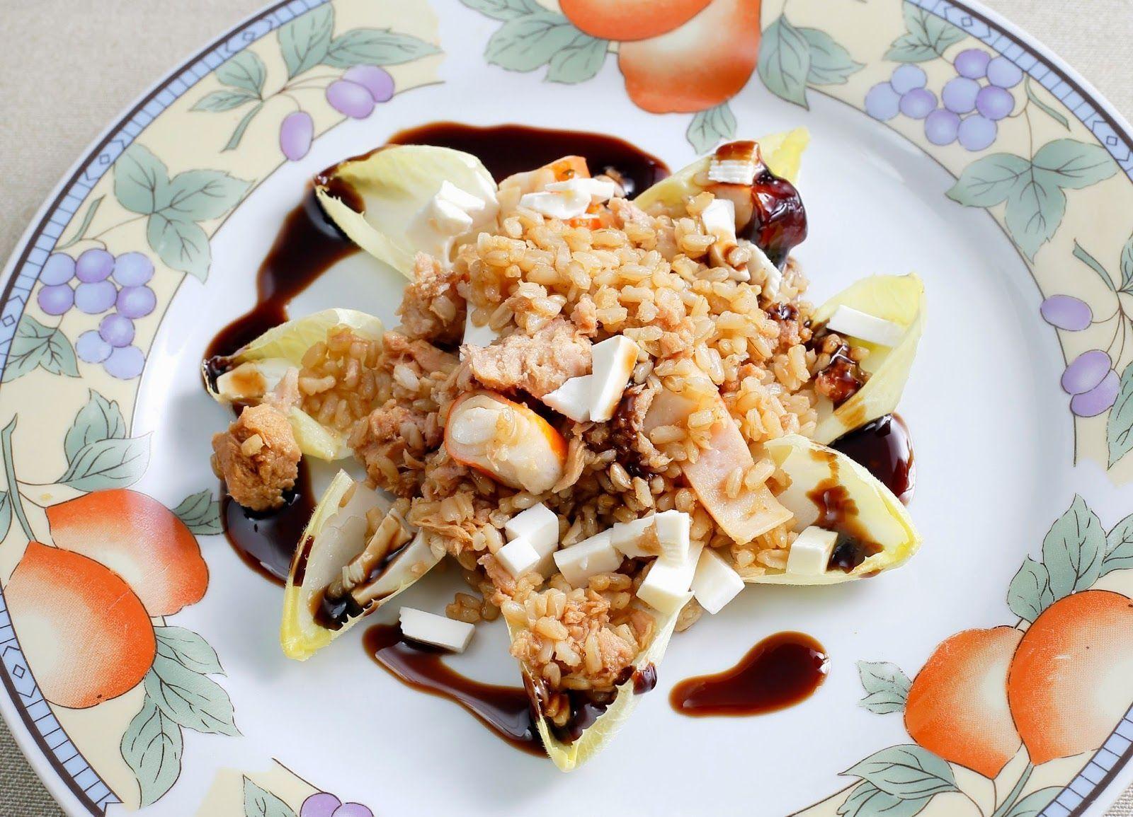 ensalada de arroz integral con vinagreta de soja y mostaza tienda ecologica zaragoza